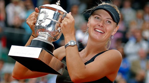 <p>               FILE - In this Saturday June 9, 2012 file photo, Maria Sharapova of Russia holds the trophy after winning the women's final match against Sara Errani of Italy at the French Open tennis tournament in Roland Garros stadium in Paris. Two-time French Open champion Maria Sharapova has pulled out of the year's second Grand Slam tournament because of her injured right shoulder. Sharapova announced her withdrawal on Instagram, on Tuesday, May 14, 2019. (AP Photo/Michel Euler, File)             </p>