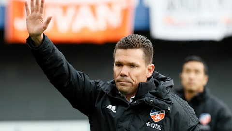 <p>               FILE - In this March 17, 2019, file photo, FC Cincinnati head coach Alan Koch acknowledges the crowd before an MLS soccer match against the Portland Timbers, in Cincinnati. FC Cincinnati fired coach Alan Koch on Tuesday, May 7, 2019, after the Major League Soccer expansion team's 11th first-tier match. (AP Photo/John Minchillo, File)             </p>