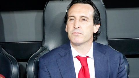 <p>               Arsenal manager Unai Emery looks from the bench prior to the Europa League semifinal soccer match, second leg, between Valencia and Arsenal at the Camp de Mestalla stadium in Valencia, Spain, Thursday, May 9, 2019. (AP Photo/Alberto Saiz)             </p>