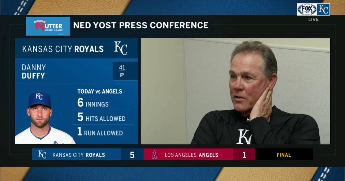Yost: 'Great job by our pitching staff all together' against Angels