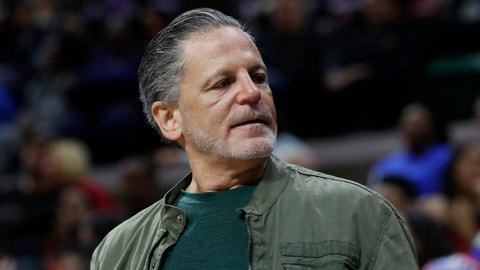 <p>               FILE - In an Oct. 12, 2018, file photo, Quicken Loans and Rock Ventures founder Dan Gilbert is seen during a basketball game in East Lansing, Mich. Gilbert is recovering, Sunday, May 26, 2019, after suffering symptoms of a stroke and seeking hospital care earlier in the day. (AP Photo/Carlos Osorio, File)             </p>