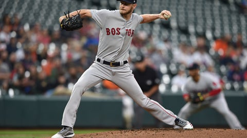 <p>               Boston Red Sox pitcher Chris Sale throws to a Baltimore Orioles batter during the first inning of a baseball game Wednesday, May 8, 2019, in Baltimore. (AP Photo/Gail Burton)             </p>
