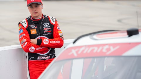 <p>               Christopher Bell waits during NASCAR Xfinity series qualifying, Saturday, May 4, 2019, at Dover International Speedway in Dover, Del. (AP Photo/Jason Minto)             </p>