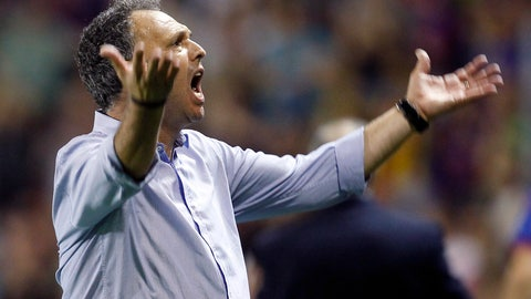 <p>               FILE - In this Saturday, Oct. 5, 2013 file photo, Levante's coach Joaquin Caparros gestures during La Liga soccer match against Real Madrid at the Ciutat de Valecia stadium in Valencia, Spain. Sevilla says Joaquin Caparros will not remain as the team's coach next season. Sevilla says Caparros will stay linked to the team but in a position that will be decided in the future. The former sports director coached Sevilla since March after replacing the fired Pablo Machin in March. He led the club to a sixth-place finish and a Europa League spot. (AP Photo/Alberto Saiz, File)             </p>
