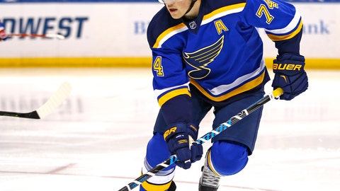 "<p>               FILE - In this Feb. 24, 2015, file photo, St. Louis Blues' T.J. Oshie plays during the second period of an NHL hockey game against the Montreal Canadiens, in St. Louis. T.J. Oshie went through five early playoff exits with the St. Louis Blues who could never seem to break through. Four years after being traded, the Capitals winger hopes the Blues winning the Stanley Cup will ease their pain. ""They put in a lot of hard work,"" said Oshie, who won the Cup with Washington last year. (AP Photo/Billy Hurst, File)             </p>"