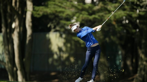 <p>               Anne Van Dam, of the Netherlands, hits her approach shot to the 18th green of the Lake Merced Golf Club during the first round of the LPGA Mediheal Championship golf tournament Thursday, May 2, 2019, in Daly City, Calif. (AP Photo/Eric Risberg)             </p>