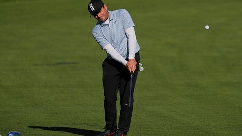 <p>               Francesco Molinari, of Italy, chips onto a practice green before a practice round for the PGA Championship golf tournament, Wednesday, May 15, 2019, at Bethpage Black in Farmingdale. (AP Photo/Julie Jacobson)             </p>