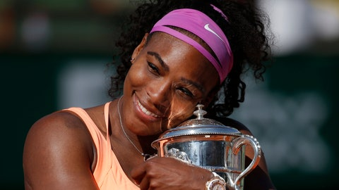 <p>               FILE - In this June 6, 2015, file photo, Serena Williams holds the trophy after winning the final of the French Open tennis tournament against Lucie Safarova of the Czech Republic, at the Roland Garros stadium in Paris, France. Welcome back to Paris, Serena Williams. The tennis world can't wait to find out exactly how that bothersome left knee is holding up. (AP Photo/Michel Euler, File)             </p>