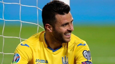 <p>               FILE  - In this Friday, March 22, 2019 file photo, Ukraine's Junior Moraes sits on the pitch after missing a scoring chance during the Euro 2020 group B qualifying soccer match between Portugal and Ukraine at the Luz stadium in Lisbon. UEFA has dismissed protests by defending champion Portugal and Luxembourg about Ukraine fielding Brazil-born forward Junior Moraes in European Championship qualifying games. (AP Photo/Armando Franca, File)             </p>
