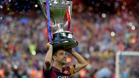 <p>               FILE - In this May 23, 2015 file photo, FC Barcelona's Xavi Hernandez holds up the trophy after winning the Spanish League title at the Camp Nou stadium in Barcelona, Spain. Midfielder Xavi Hernandez will retire from soccer this season at age 39, the former Spain and Barcelona great says. Xavi quit international football in 2014 and left Barcelona one year later after 17 seasons. He has since played for Al-Sadd in Qatar while preparing for a future as a manager. (AP Photo/Manu Fernandez, File)             </p>