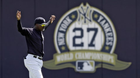 <p>               New York Yankees' Didi Gregorius stretches before a Gulf Coast League baseball game Monday, May 20, 2019, in Tampa, Fla. Gregorius is playing for the first time since having Tommy John surgery. (AP Photo/Chris O'Meara)             </p>