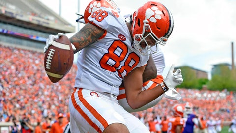 <p>               FILE - In this April 6, 2019, file photo, Clemson's Braden Galloway celebrates a touchdown during their spring NCAA college football game in Clemson, S.C. Clemson tight end Braden Galloway and offensive lineman Zach Giella will miss next season after an NCAA panel rejected the school's appeal of their drug suspension. Clemson athletic spokesman Jeff Kallin said the school learned of the NCAA's decision on Wednesday, May 22, 2019. (AP Photo/Richard Shiro, File)             </p>