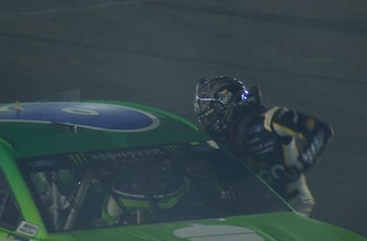 Clint Bowyer throws punches at Ryan Newman after the All-Star Race