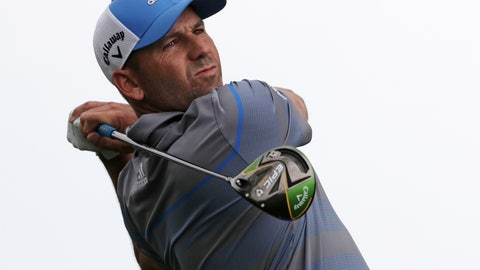 <p>               Sergio Garcia, of Spain, drives off the 10th tee during the second round of the PGA Championship golf tournament, Friday, May 17, 2019, at Bethpage Black in Farmingdale, N.Y. (AP Photo/Charles Krupa)             </p>