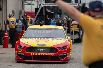 The Latest: Logano wins 1st stage at Dover