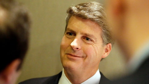 <p>               FILE - In this Nov. 18, 2015, file photo, New York Yankees owner Hal Steinbrenner smiles as he listens to a question while speaking with reporters at the baseball owners meeting in Dallas. Steinbrenner is pleased with the performance of his injury-decimated team. The Yankees have put 17 players on the injured list for 18 total stints. Still, they entered a three-game home series against AL East-leading Tampa Bay with a 26-16 record, a half-game behind the Rays.(AP Photo/LM Otero, File)             </p>