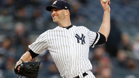 <p>               New York Yankees starting pitcher J.A. Happ winds up during the second inning of the team's baseball game against the Seattle Mariners, Thursday, May 9, 2019, in New York. (AP Photo/Kathy Willens)             </p>