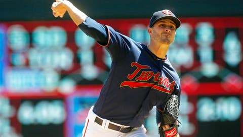 <p>               Minnesota Twins pitcher Jake Odorizzi throws against the Chicago White Sox in the first inning of a baseball game Sunday, May 26, 2019, in Minneapolis. (AP Photo/Jim Mone)             </p>