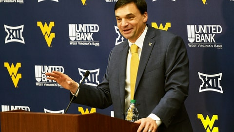 <p>               FILE - In this Jan. 10, 2019, file photo, West Virginia University's new NCAA college football head coach Neal Brown gestures while speaking during an introductory press conference in Morgantown, W.Va. The 2019 Most Likely to Succeed list ranks the new hires in FBS. (Ron Rittenhouse/The Dominion-Post via AP, File)             </p>