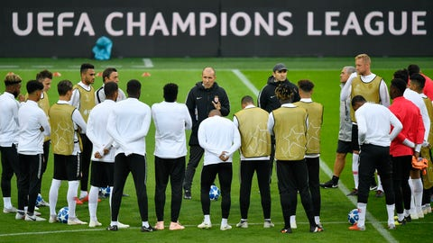 <p>               FILE - In this Oct. 2, 2018, photo Monaco's head coach Leonardo Jardim, center, talks to his team during a training session on the eve of the Champions League group A soccer match between Borussia Dortmund and AS Monaco in Dortmund, Germany. A Champions League semifinalist in 2017, Monaco is in danger of dropping to the French league's second division. Following this weekend's 1-0 loss at Nimes, Monaco stands in 17th place in the standings with two matches left to play, above the bottom three only on goal difference. (AP Photo/Martin Meissner)             </p>
