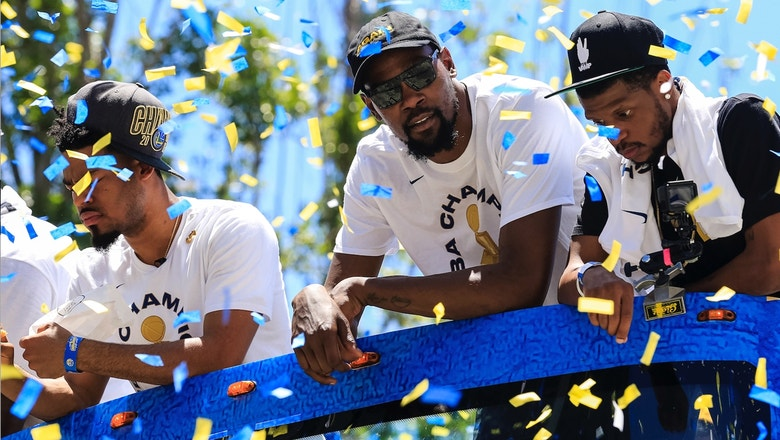 Colin Cowherd: Warriors winning the title without KD will be 'the most awkward parade of all-time'