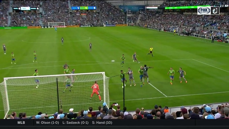 WATCH: Opara rises for header, gives Minnesota United 1-0 lead