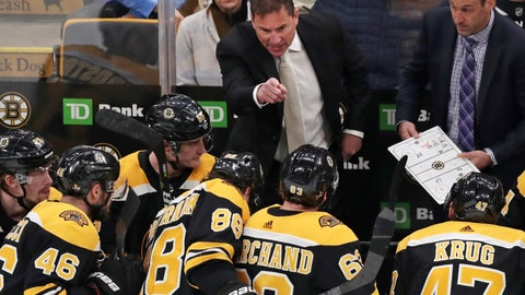 <p>               FILE - In this April 11, 2019, file photo, Boston Bruins coach Bruce Cassidy gestures to his players during the third period of Game 1 of an NHL hockey first-round playoff series against the Toronto Maple Leafs in Boston. Two roads diverged in a crazy world of hockey and brought them to this Stanley Cup Final. Cassidy has guided the Boston Bruins to this point a decade and a half after a disastrous tenure in Washington, and Berube took the St. Louis Blues from worst to their first final since 1970 several years after a short stint in Philadelphia. (AP Photo/Charles Krupa, File)             </p>