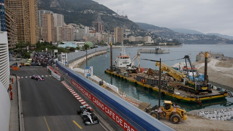 <p>               Mercedes driver Lewis Hamilton of Britain steers his car during the first practice session at the Monaco racetrack, in Monaco, Thursday, May 23, 2019. The Formula one race will be held on Sunday. (AP Photo/Luca Bruno)             </p>