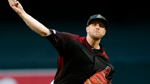 <p>               Arizona Diamondbacks starting pitcher Merrill Kelly throws against the San Francisco Giants during the first inning of a baseball game, Friday, May 17, 2019, in Phoenix. (AP Photo/Ralph Freso)             </p>