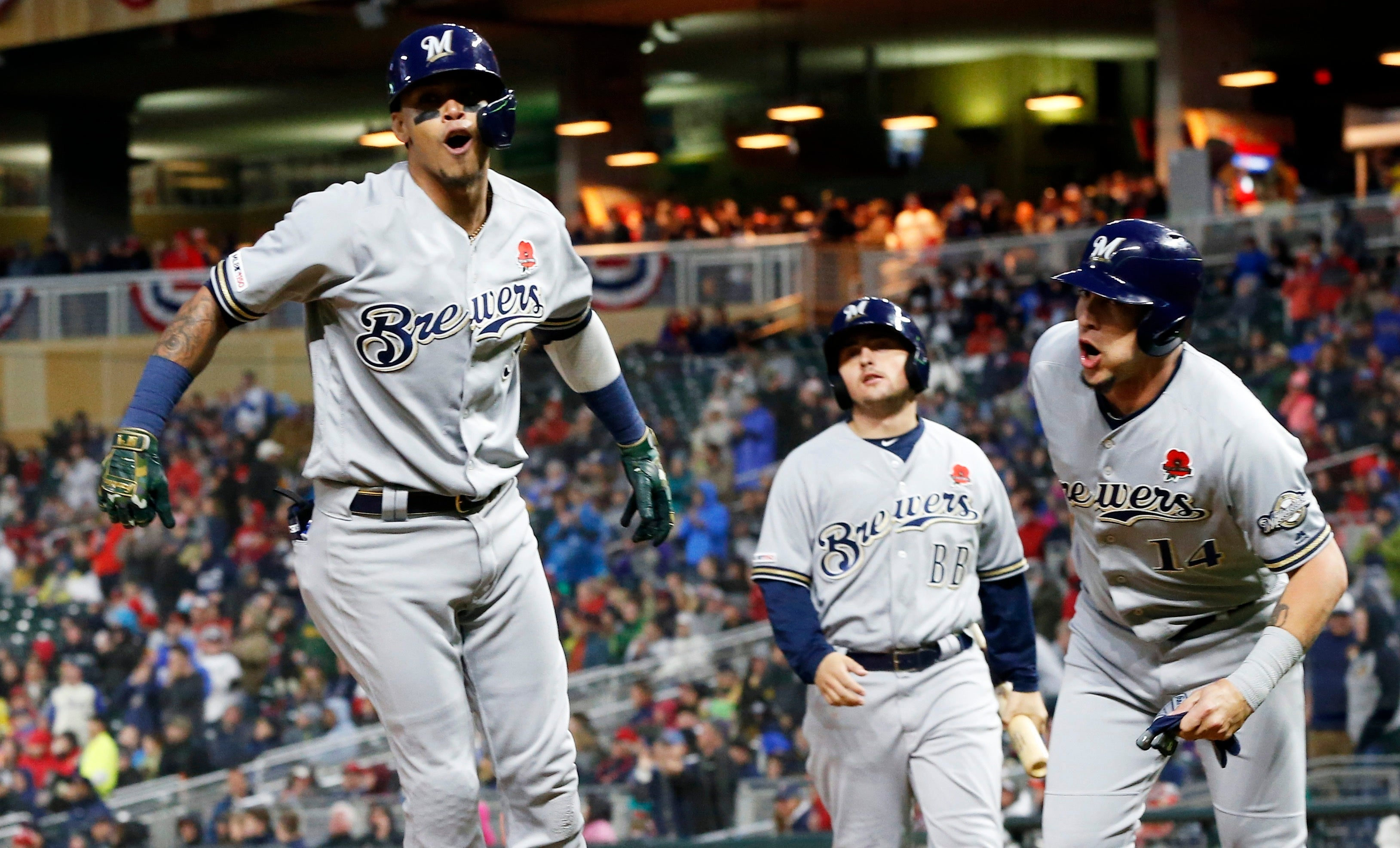 fa89ad2b682 Arcia s 8th inning home run lifts Brewers past Twins 5-4