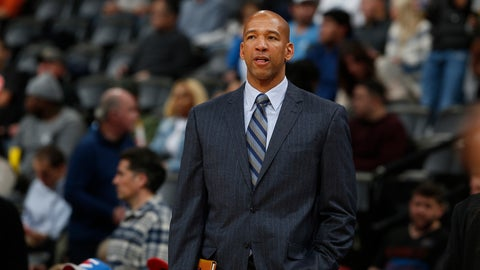 <p>               FILE - In this Jan. 19, 2016 file photo, then-Oklahoma City Thunder assistant coach Monty Williams watches during the second half of an NBA basketball game in Denver. The Phoenix Suns announced Friday, May 3, 2019, they have hired Williams as their new coach, replacing Igor Kokoskov, who was fired last week after one disappointing season.  (AP Photo/David Zalubowski, File)             </p>