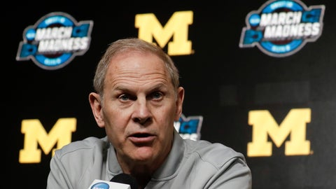 <p>               FILE - In this March 27, 2019 file photo Michigan head coach John Beilein speaks during a news conference at the NCAA college basketball tournament in Anaheim, Calif. Two people familiar with the decision say Beilein has agreed to become head coach of the Cleveland Cavaliers. The people spoke to The Associated Press on Monday, May 13, 2019 on condition of anonymity because the team had not announced the hire. ESPN, citing unidentified sources, said Beilein agreed to a five-year deal with the Cavaliers. (AP Photo/Chris Carlson, file)             </p>