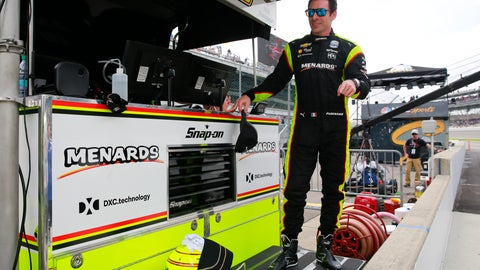 <p>               Simon Pagenaud, of France, stand on the pit wall following the final practice session for the Indianapolis 500 IndyCar auto race at Indianapolis Motor Speedway, Friday, May 24, 2019, in Indianapolis. (AP Photo/R Brent Smith)             </p>