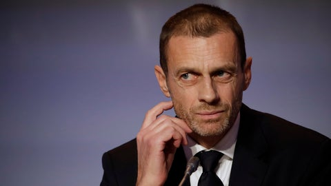 <p>               FILE - In this Thursday, Feb. 7, 2019 file photo, UEFA President Aleksander Ceferin listens to reporter's questions during a press conference at the end of the 43rd UEFA congress in Rome. Ceferin told leaders from European leagues not to forget the importance of big clubs in generating cash during a private meeting in which plans were detailed for a closed-off Champions League favoring the elite. A recording and images obtained by The Associated Press from the meeting at the UEFA headquarters on Wednesday, May 8 highlights the schism between clubs and leagues over the ability to influence UEFA as it considers revamping its club competitions starting with the 2024-25 season. (AP Photo/Alessandra Tarantino, file)             </p>