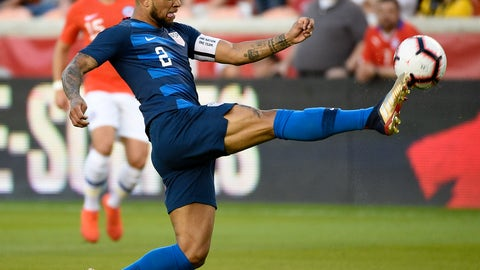 <p>               FILE - In this March 26, 2019, file photo, United States defender DeAndre Yedlin (2) kicks the ball during the first half of an international friendly soccer match against Chile, in Houston. American defender DeAndre Yedlin may miss the CONCACAF Gold Cup following surgery to repair a chronic groin injury. The U.S. Soccer Federation says the 25-year-old right back was operated on Tuesday, May 7, 2019, in Philadelphia and it is not clear whether he will heal in time for the Gold Cup. The U.S. opens its title defense against Guyana on June 18. (AP Photo/Eric Christian Smith, File)             </p>