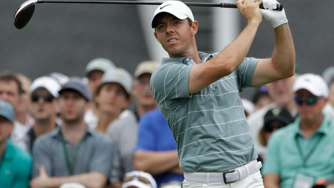 <p>               FILE - In this April 13, 2019, file photo, Rory McIlroy, of Northern Ireland, hits a drive on the first hole during the third round for the Masters golf tournament, in Augusta, Ga. McIlroy is at the Wells Fargo Championship this week in Charlotte, N.C., where he turns 30 on Saturday, May 4. (AP Photo/Marcio Jose Sanchez, File)             </p>