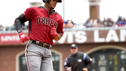 <p>               Arizona Diamondbacks' Ketel Marte rounds the bases after hitting a solo home run against the San Francisco Giants during the first inning of a baseball game in San Francisco, Sunday, May 26, 2019. (AP Photo/Tony Avelar)             </p>