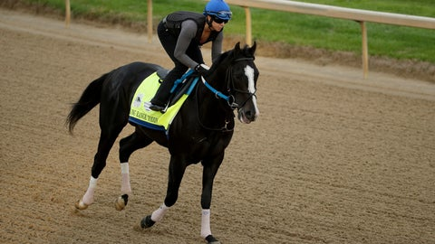 <p>               Kentucky Derby entrant Long Range Toddy is ridden during a workout at Churchill Downs Wednesday, May 1, 2019, in Louisville, Ky. The 145th running of the Kentucky Derby is scheduled for Saturday, May 4. (AP Photo/Charlie Riedel)             </p>