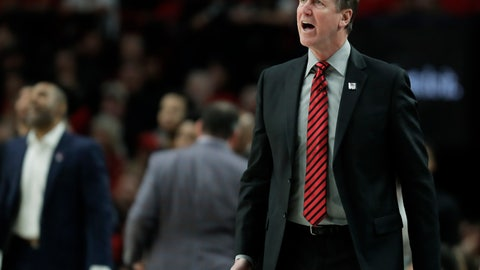 <p>               Portland Trail Blazers head coach Terry Stotts calls to his team during the first half of Game 4 of the NBA basketball playoffs Western Conference finals against the Golden State Warriors, Monday, May 20, 2019, in Portland, Ore. (AP Photo/Ted S. Warren)             </p>