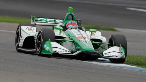 <p>               Colton Herta steers his car during qualifications for the Indy GP IndyCar auto race at Indianapolis Motor Speedway, Friday, May 10, 2019 in Indianapolis. (AP Photo/Darron Cummings)             </p>