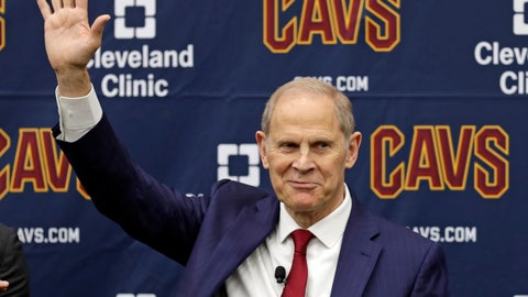 <p>               Cleveland Cavaliers head coach John Beilein is introduced during a news conference, Tuesday, May 21, 2019, in Independence, Ohio. Beilein left Michigan after a successful 12-year run for what will likely be his last coaching stop, the Cleveland Cavaliers, who believe the 66-year-old can accelerate their rebuild. (AP Photo/Tony Dejak)             </p>