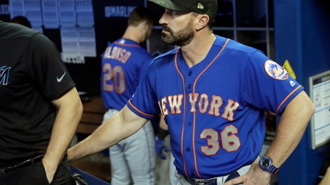 <p>               New York Mets manager Mickey Callaway stands in the dugout before a baseball game against the Miami Marlins, Sunday, May 19, 2019, in Miami. (AP Photo/Lynne Sladky)             </p>