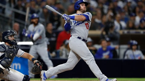 <p>               The Los Angeles Dodgers' Max Muncy watches his three-run home run during the sixth inning of the team's baseball game against the San Diego Padres, Saturday, May 4, 2019, in San Diego. (AP Photo/Gregory Bull)             </p>