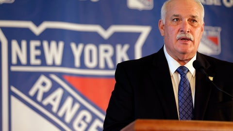 <p>               John Davidson, the new president of the New York Rangers, speaks during a news conference in New York, Wednesday, May 22, 2019. Davidson was hired as team president Friday hours after leaving his post with the Columbus Blue Jackets. He returns to New York where he spent parts of eight seasons as a Rangers goaltender and was a TV analyst for almost a decade. (AP Photo/Seth Wenig)             </p>