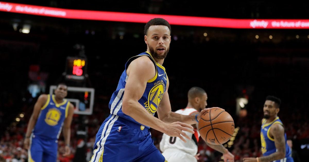 983a77c99cdb Warriors beat Blazers 119-117 in OT for NBA Finals berth