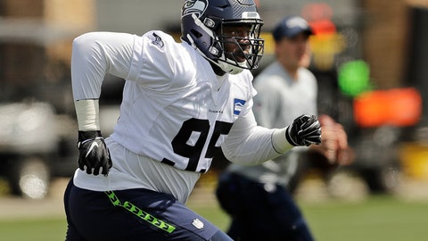 <p>               Seattle Seahawks defensive end L.J. Collier runs a drill during NFL football rookie minicamp, Friday, May 3, 2019, in Renton, Wash. (AP Photo/Ted S. Warren)             </p>