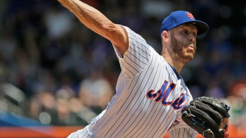 <p>               New York Mets starting pitcher Zack Wheeler throws during the first inning of a baseball game against the Detroit Tigers at Citi Field, Sunday, May 26, 2019, in New York. (AP Photo/Seth Wenig)             </p>
