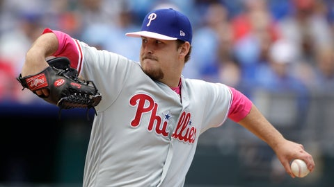 <p>               Philadelphia Phillies starting pitcher Cole Irvin throws during the first inning of a baseball game against the Kansas City Royals, Sunday, May 12, 2019, in Kansas City, Mo. (AP Photo/Charlie Riedel)             </p>