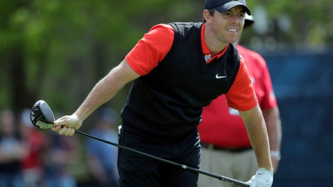 <p>               Rory McIlroy, of Northern Ireland, follows his shot off the seventh tee during the first round of the PGA Championship golf tournament, Thursday, May 16, 2019, at Bethpage Black in Farmingdale, N.Y. (AP Photo/Julio Cortez)             </p>