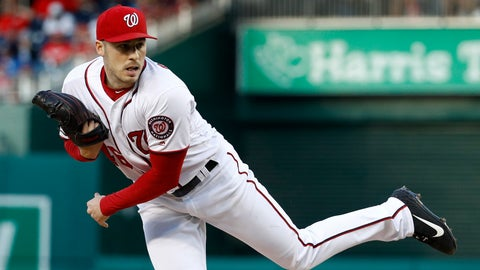 <p>               Washington Nationals starting pitcher Patrick Corbin follows through on a pitch to the New York Mets in the second inning of a baseball game, Wednesday, May 15, 2019, in Washington. (AP Photo/Patrick Semansky)             </p>